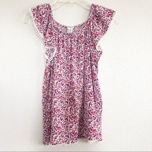 Forever 21 Pink Floral Top Sz 13/14